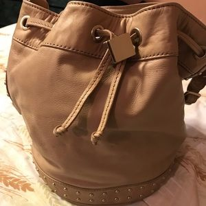 Brand New with tags leather bucket bag